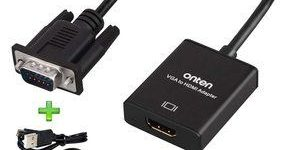 10. Onten 1080P VGA to HDMI Adapter (Male to Female)