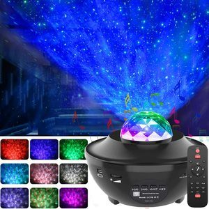 2. GeMoor Night Light Projector with Bluetooth Music Speaker