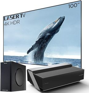 2. Hisense 100L10E 4K UHD Smart Laser Projector TV