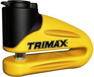 2. Trimax Yellow Hardened Metal Disc Lock
