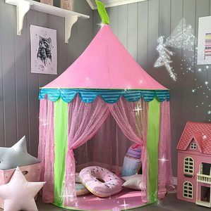 4. Glitter Castle Pop Up Play Tent