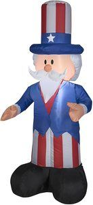 5. Gemmy Airblown Inflatable Patriotic Uncle Sam