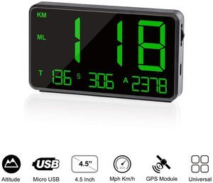 5. TIMPROVE Universal Digital Car GPS Speedometer