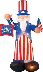 6. Gemmy Patriotic Inflatable 6' Uncle Sam