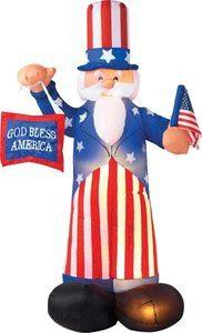6. Gemmy Patriotic Inflatable 6' Uncle Sam