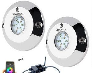 6. jiawill RGB CREE LED Underwater Boat Light