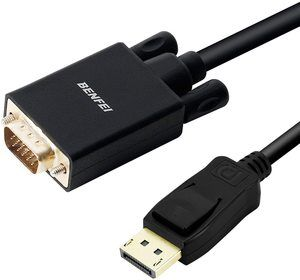 8. Benfei DP DisplayPort to VGA 6 Feet Cable