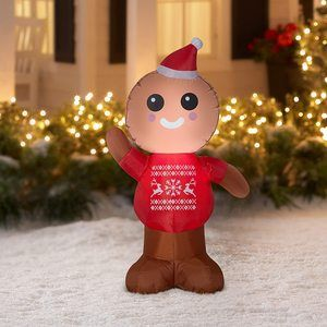 9. Gemmy Industries Airblown Inflatable Gingerbread Man