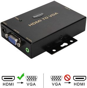 9. HDMI to VGA Converter with 3.5mm Audio