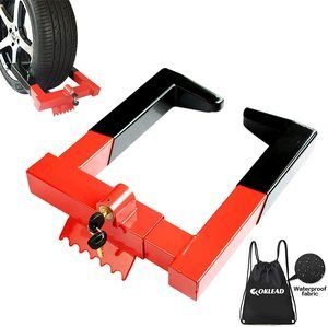 9. OKLEAD Trailer Wheel Lock Clamp, Anti Theft