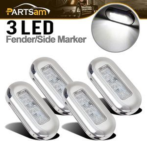 9. Partsam 3 LED Oblong Stainless Courtesy Light Accent, 4pcs