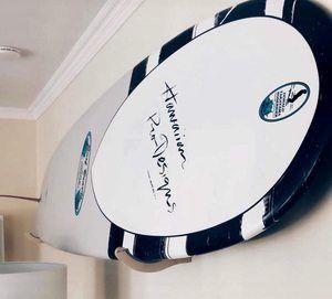 9. Premium Wooden Surfboard Display Rack