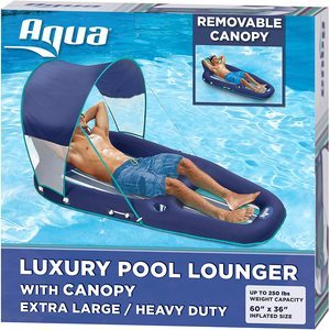 #1 Aqua Oversized Pool Lounger
