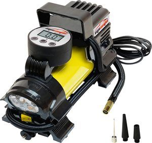 #1. EPAUTO 12V DC Digital Portable Air Compressor, Tire Inflator