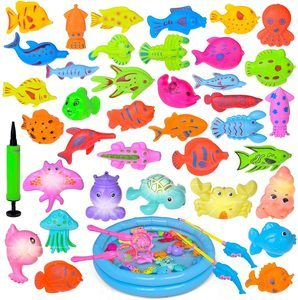 #10 Fun Little Toys 42 Pieces Magnetic Fishing Toys