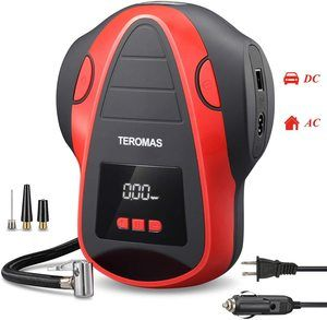 #10. TEROMAS Tire Inflator Portable Air Compressor