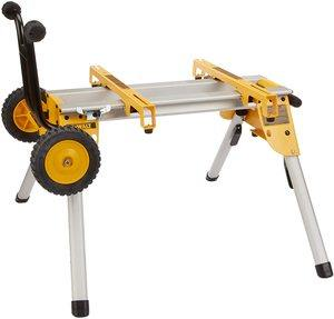 #2. DEWALT Table Saw DW7440RS Mobile Rolling Stand
