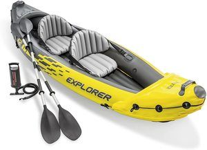 #2. Intex Explorer K2 Kayak, with Aluminum Oars 2-Person