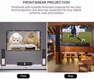 #2. Projector Screen 16 9 HD 150 inch Foldable Anti Crease