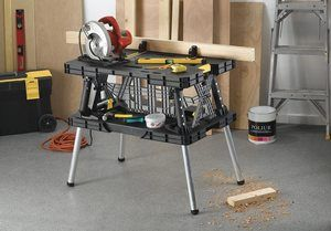 #3. Keter Foldable Portable Table Work Bench