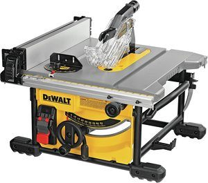 #7. DEWALT Table Saw for Jobsite, 8-14-Inch Compact