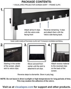 #8. Visual Apex 29 H x 15 W Projector Screen Black Standard