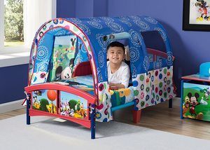 1. Delta Children Toddler Tent Bed