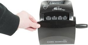 1. Royal Sovereign Manual Hand Crank Coin Sorter (QS-1)