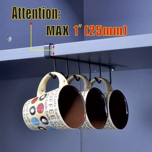 10. ECROCY Adhesive Cup Holder Under Cabinet