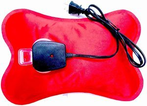 10. Happy Heat Electric Hot Water Bottle, Red