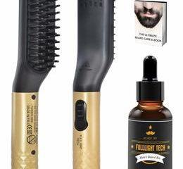 10. Quick Electric Heated Beard Hair Brush (Gold)