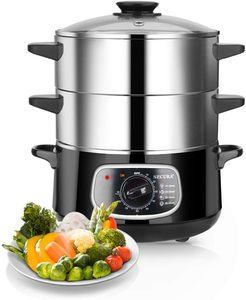 10. Secura 2 Stainless Steel Food Steamer