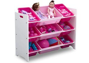11. Delta Children MySize Plastic Toy Organizer with 9 bins