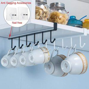 2. Alliebe Mug Cups with Storage Hooks, 3 Pack