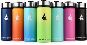 2. HYDRO CELL Stainless Steel Water Bottle -Wide Mouth Lids