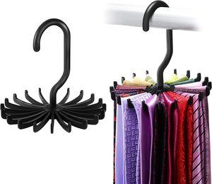 2. IPOW Updated Twirl Tie Rack, 2 Pack