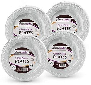 2. Plastimade 7 Inch Appetizer Plates, [160 Count], 4 Packs