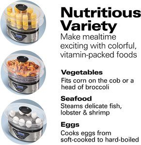 3. Hamilton Beach 37530A Digital Food Steamer