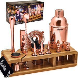 4. BARILLIO Copper Bartender Kit, 23 Pieces