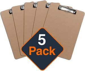 4. Office Solutions Direct ECO-Friendly Clipboard (Set of 5)