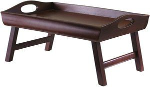 4. Winsome Wood Sedona Bed Tray, Antique Walnut