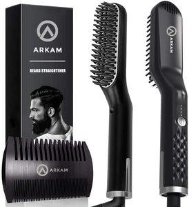 5. Arkam Premium Beard Straightener for Home & Travel