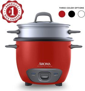 5. Aroma Housewares Pot Style Rice Cooker and Food Steamer