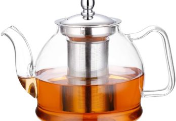 5. Hiware 1000ml Glass Teapot with Removable Infuser