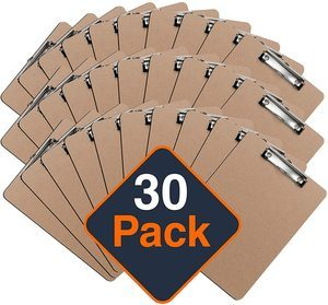 5. Office Solutions Direct Standard A4 Letter Size Clipboards (Set of 30)