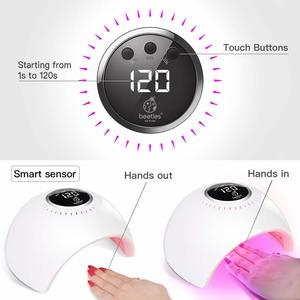 6. Beetles UV LED Nail Lamp, Gel Nail Polish