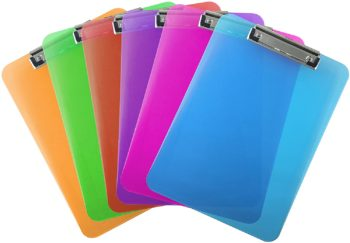 6. Trade Quest Plastic Clipboard (Pack of 6)