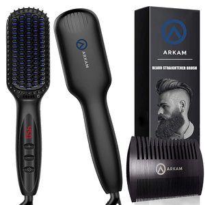 7. Arkam Beard Straightener, Ionic Beard Straightening Comb