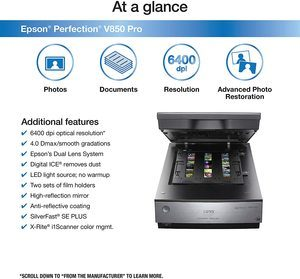 7. Epson Perfection V850 Pro scanner