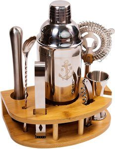 7. Stock Harbor Stainless Steel Bartender Set, 8 Piece